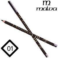 Malva Cosmetics Карандаш M-319 дерево для глаз Eye Contour Pencil Тон №001 black матовый