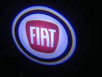 Диодная подсветка дверей с логотипом авто Fiat