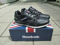 Мужские кроссовки Reebok Classic GL 3000 кожа черные
