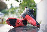 Мужские кроссовки Air Jordan 23 Black Red черные с красным кожа