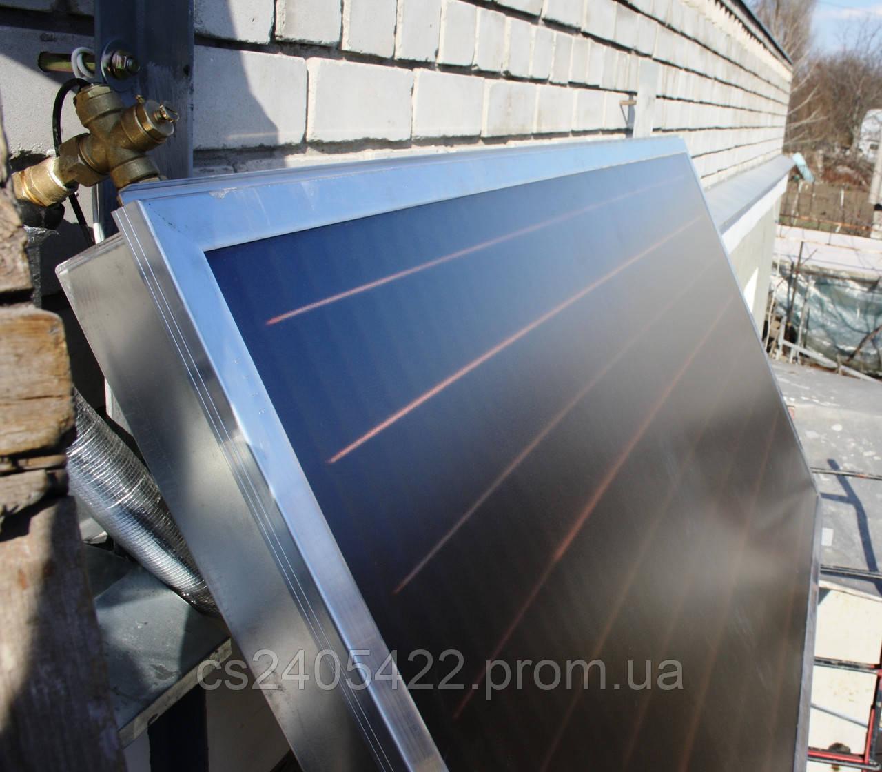 Всесезонная система нагрева воды 120 л. (ГВС), на коллекторе HEWALEX. Реализованный объект в г. Днепр