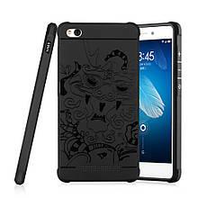 Чехол накладка силиконовый TPU Auspicious Dragon для Xiaomi Redmi 3 черный