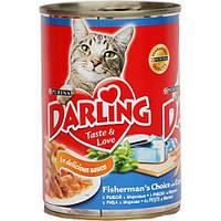 Консервы Darling для кошек с рыбой и морковью, 400 г