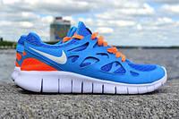 Мужские повседневные кроссовки NIKE Free Run 2.0 синие Подробн