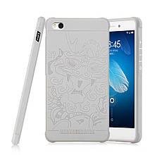 Чехол накладка силиконовый TPU Auspicious Dragon для Xiaomi Redmi 3 серый