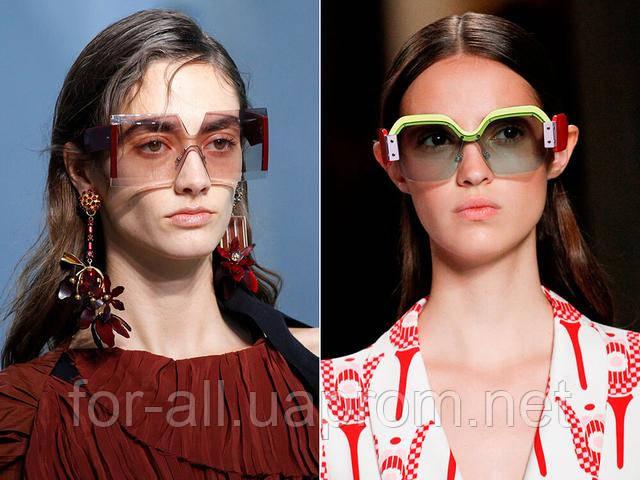 Солнечные очки 2017. Нестандартная форма для модниц