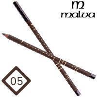 Malva Cosmetics Карандаш M-319 дерево для глаз Eye Contour Pencil Тон №005 brown матовый