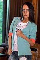 Легкий пиджак с вышивкой на спине 2 цвета