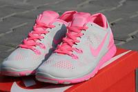 Женские кроссовки NIKE Free Run 5.0 серо-розовые