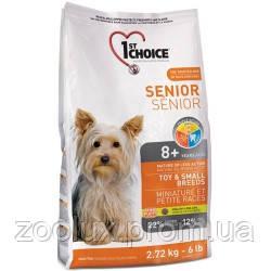 1st Choice (Фест Чойс) сухой супер премиум корм для пожилых или малоактивных собак мини и малых пород, 2,72кг