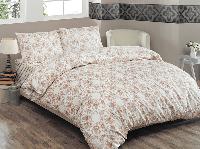 Двуспальное евро постельное белье Brielle 704 V2 Brown Ранфорс