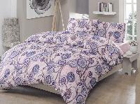 Двуспальное евро постельное белье Brielle 703 V2 Lilac Ранфорс