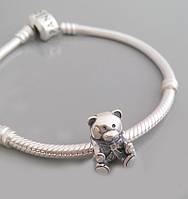 """Серебряная подвеска-шарм для Pandora """"Мишка"""" Арт.0051031"""