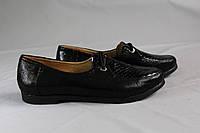 Туфли мокасины на шнурках для девочки. Натуральная кожа 0308