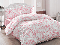 Двуспальное евро постельное белье Brielle 801 V2 Pink Ранфорс