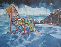 """Картина на полотні """"Біля моря"""""""