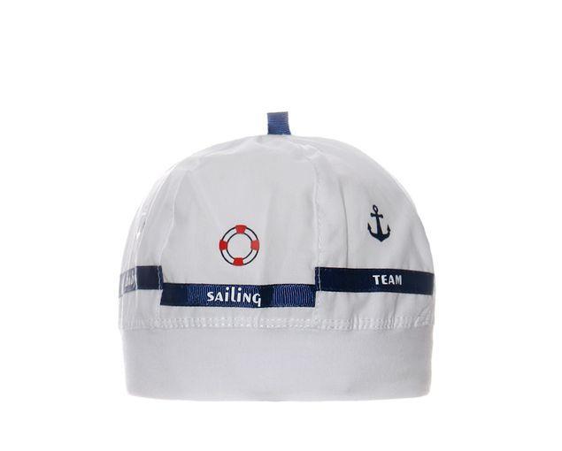 Детская легкая шапочка для мальчика Морской Капитан от Marika Польша