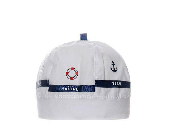 Детская легкая шапочка для мальчика Морской Капитан от Marika Польша, фото 2