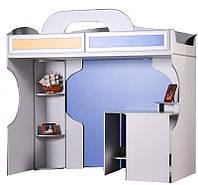 Кровать верхняя с рабочим столом Пионер
