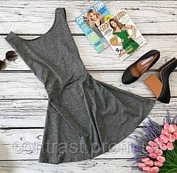 Сдержанное платье на каждый день в меланжевой расцветке  DR20285