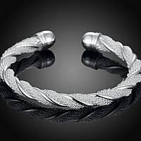 Серебряный женский браслет покрытие серебро 625
