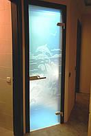 Стеклянные двери в МДФ коробке
