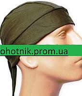 Трикотажная Сандана (шапка - бандана). Цвет Хаки.