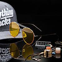 Женские стильные очки капли Hend Made желтые