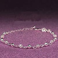 Серебряный женский браслет покрытие серебро 623