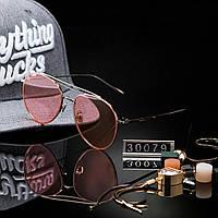 Женские стильные очки капли Hend Made розовые