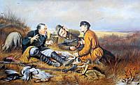Картина «Охотники на привале» копия Перова картина маслом