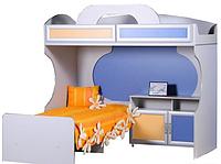 Кровать 2-х ярусная с тумбой Пионер, фото 1