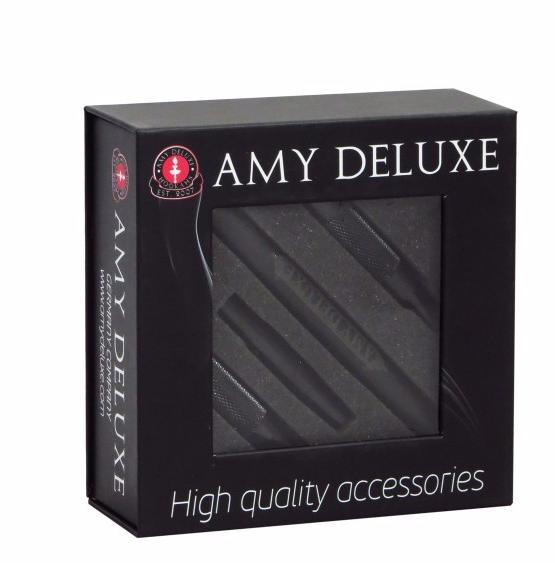 Шланг Amy DeLuxe AS 02 силиконовый с алюминиевым мундштуком,  черный