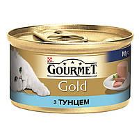 Консервы Gourmet Gold для кошек, мусс с тунцом, 85 г (24шт/уп)