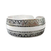 Серебряный женский браслет покрытие античное серебро 6212