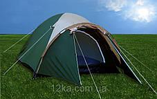 Палатка туристическая Presto Acamper Aссо 4 Pro 3500 мм, клеенные швы, фото 3