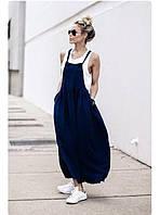 Женский сарафан - фартук свобоного кроя, классная модная модель, разные цвета , длина по вашему желанию! отХС