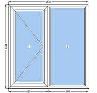 Поворотное МП окно 1370*1440, Venta / Axor
