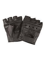 Перчатки байкерские обрезанные (Black)