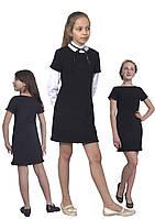 Сарафан школьный для девочки М-1092  рост 116 122 128 134 140 46 152 158 164 и 170. Черный и синий