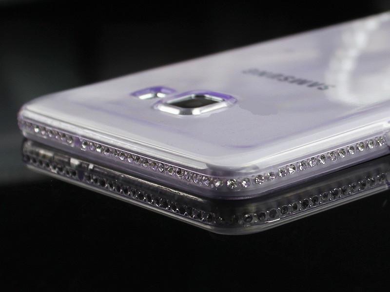 Чехол для Samsung A3 A320 2017 силиконовый со стразами