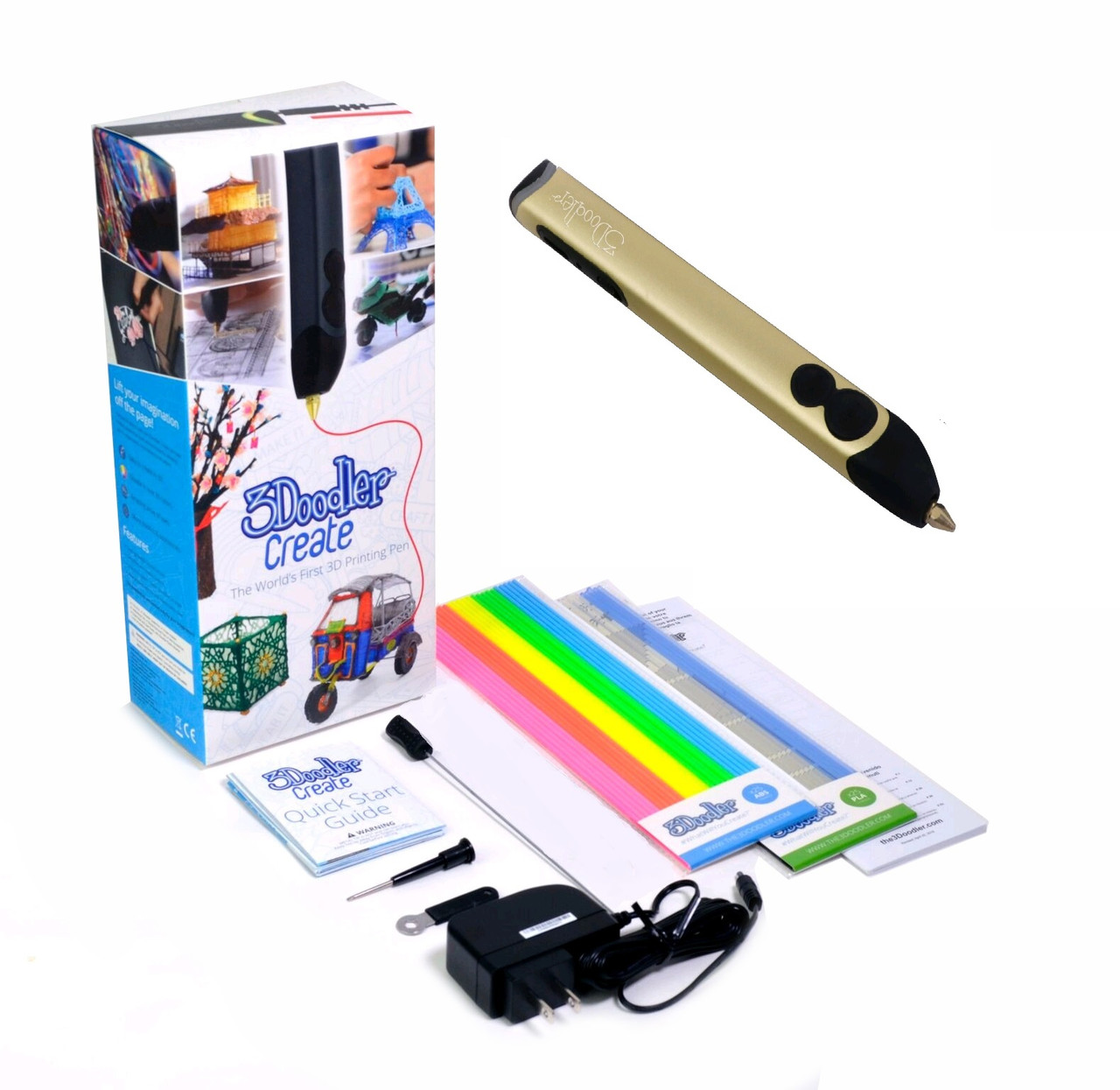 3D-ручка 3Doodler Create Золотая 3DOOD-CRE-BUTTER-EU, фото 1