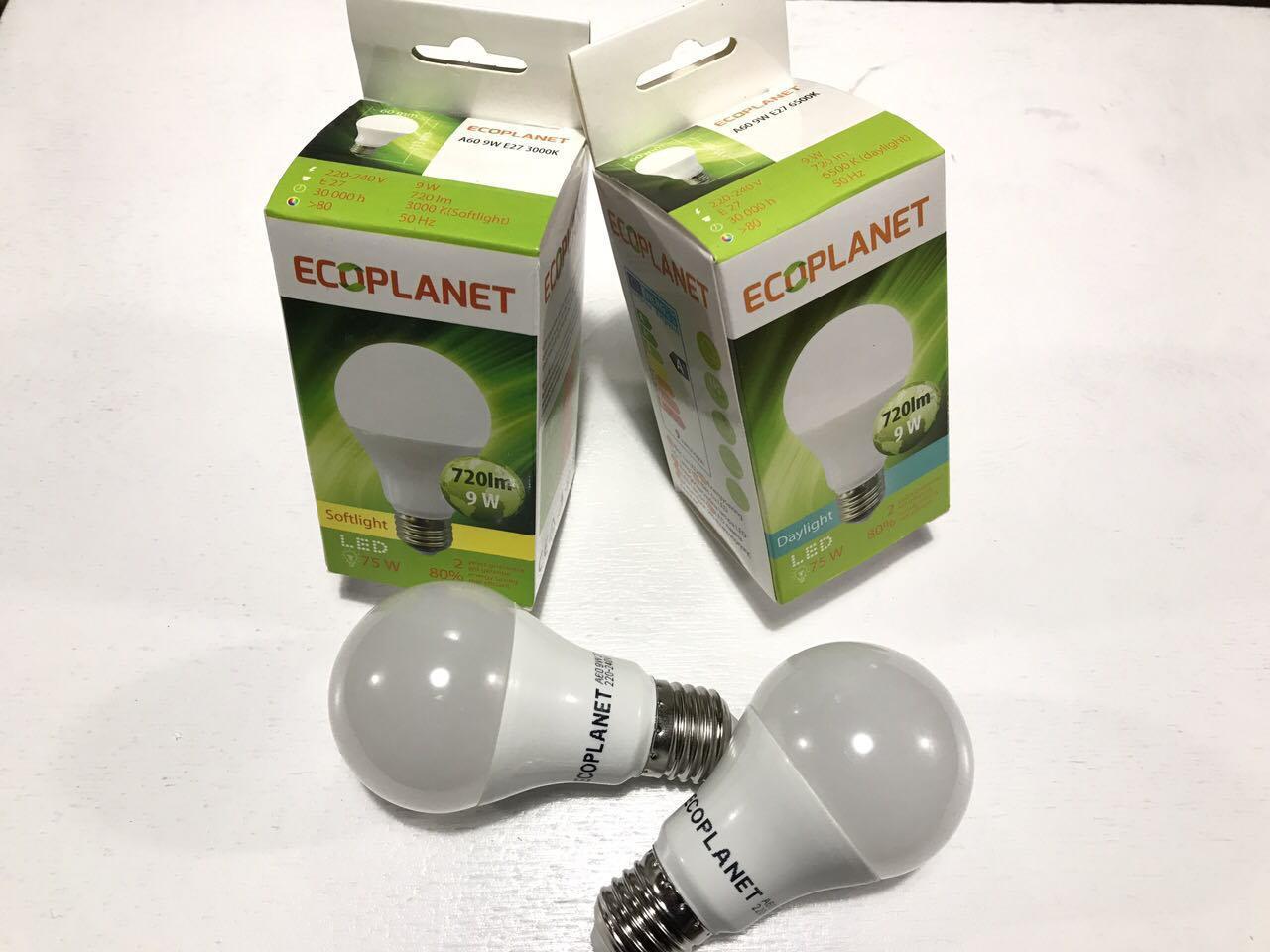 LED лампа Ecoplanet A60 230V 9W 3000K