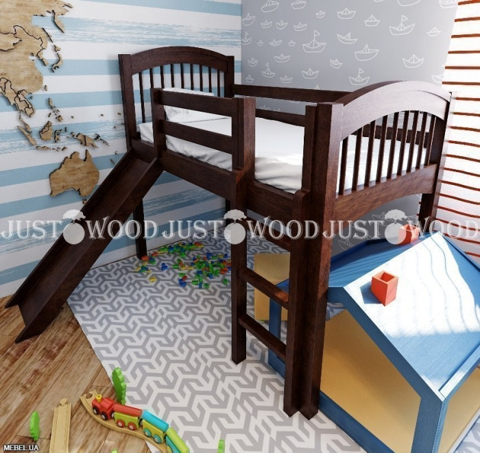 Детская кровать «Снежок  с горкой» JustWood