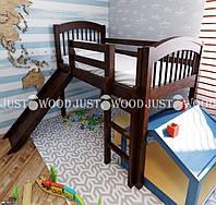 Детская кровать «Снежок  с горкой»