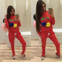 Женский спортивный костюм красный СС7080