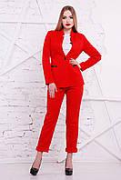 Офисный красный пиджак СИНТИЯ2  ТМ Glem 44-48 размеры