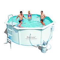 Сборный бассейн Bestway Hydrium Pool Poseidon 56574/56285 (360x120) с песочным фильтром