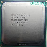 Intel Xeon E5410 + перехідник (SLANW, 12M Cache, 2.33 GHz, 1333 MHz FSB)