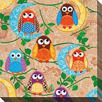 """Схема для вышивки бисером """"Маленькие совы"""""""